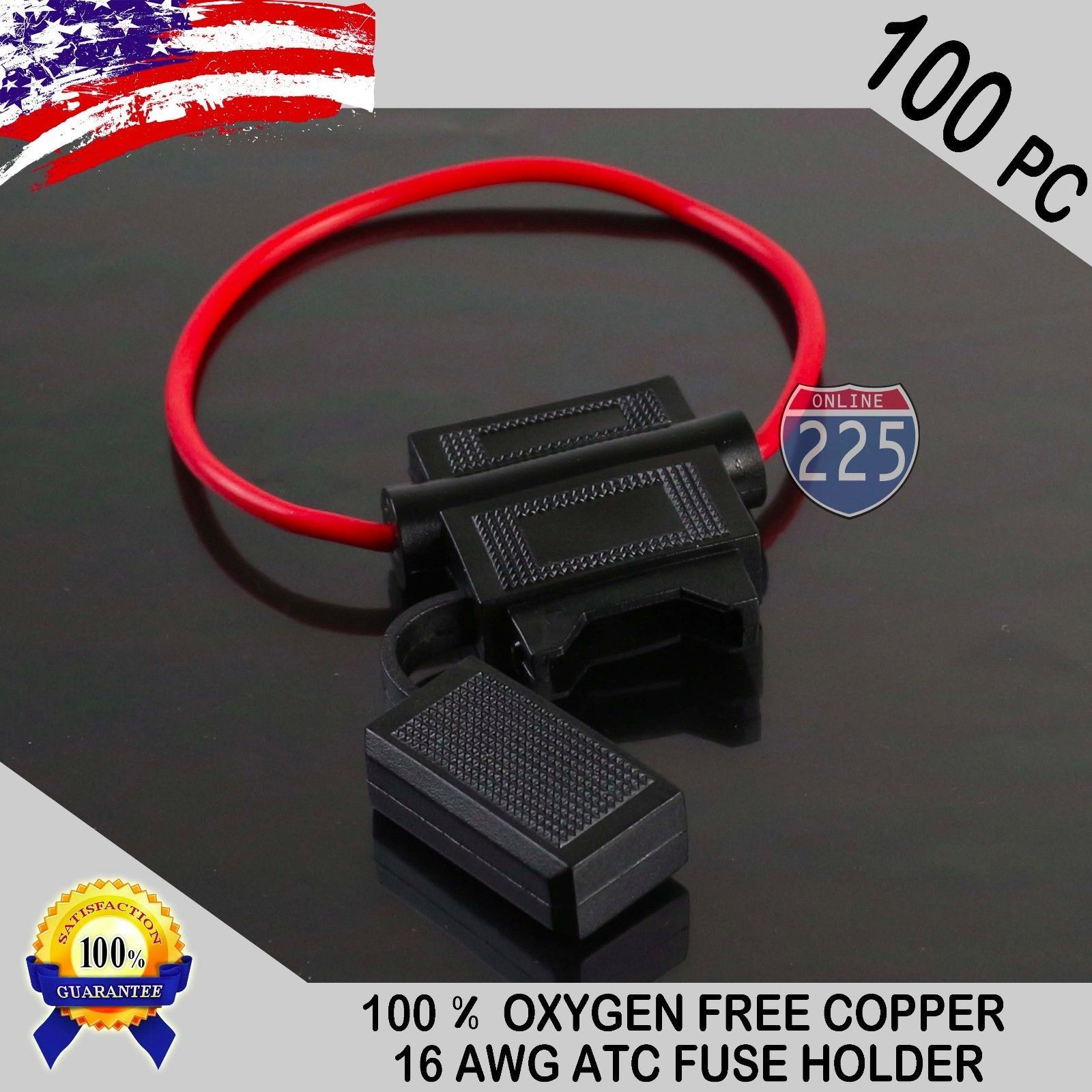 Fuses And Fuse Holders 100 Pack 16 Gauge Atc In Line Blade Add A Circuit Standard Holder Connector