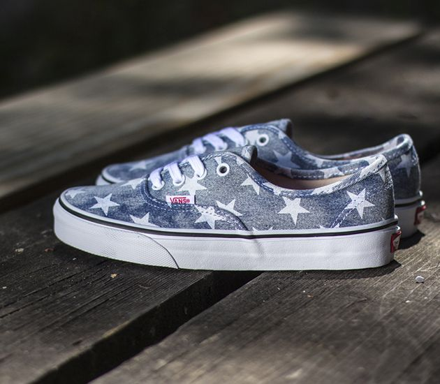 Vans Authentic Washed Stars Vans Authentic Mens Shoes Sneakers Vans
