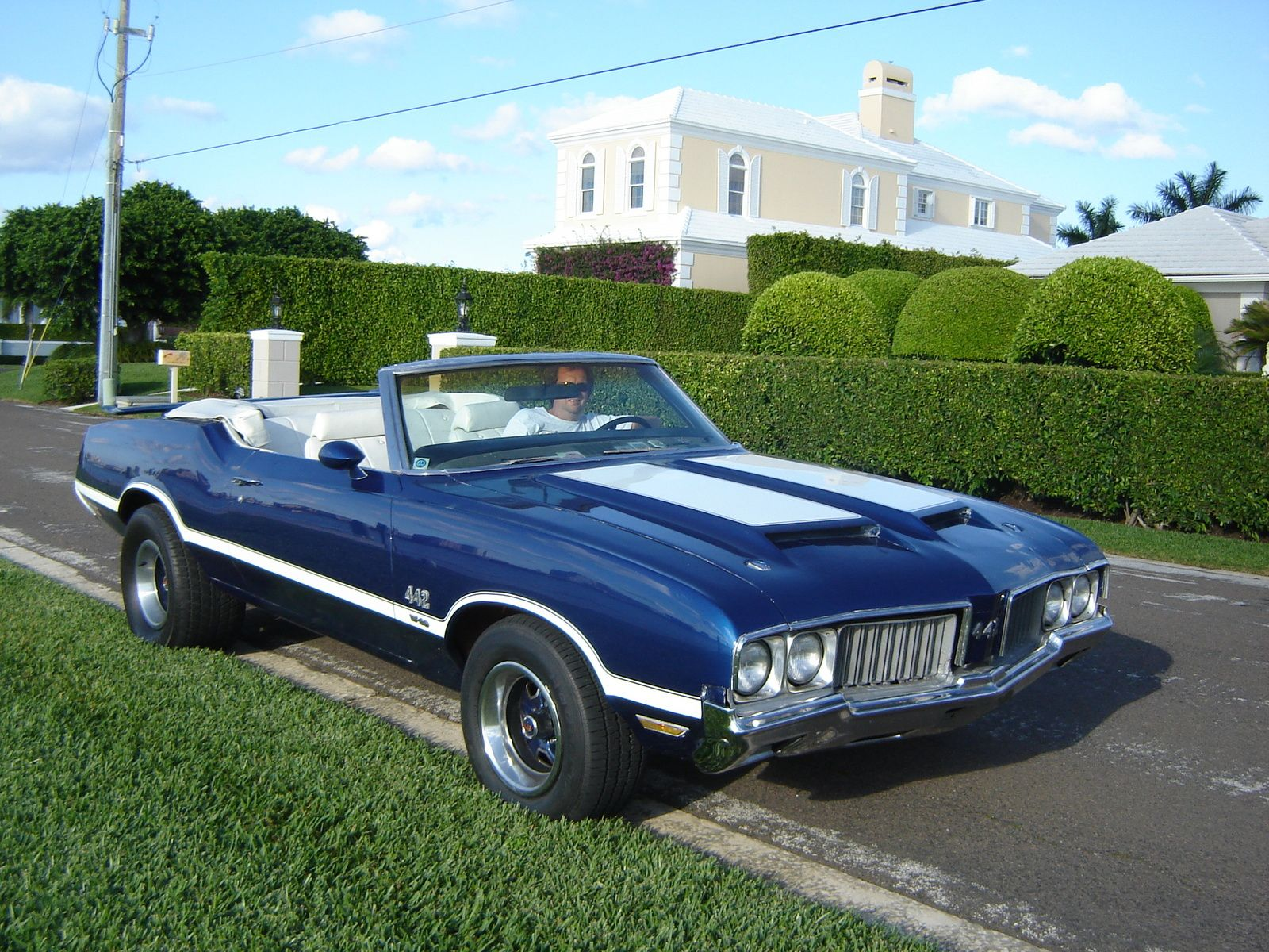 1970 oldsmobile 1970 olds 442 blue convertible exterior