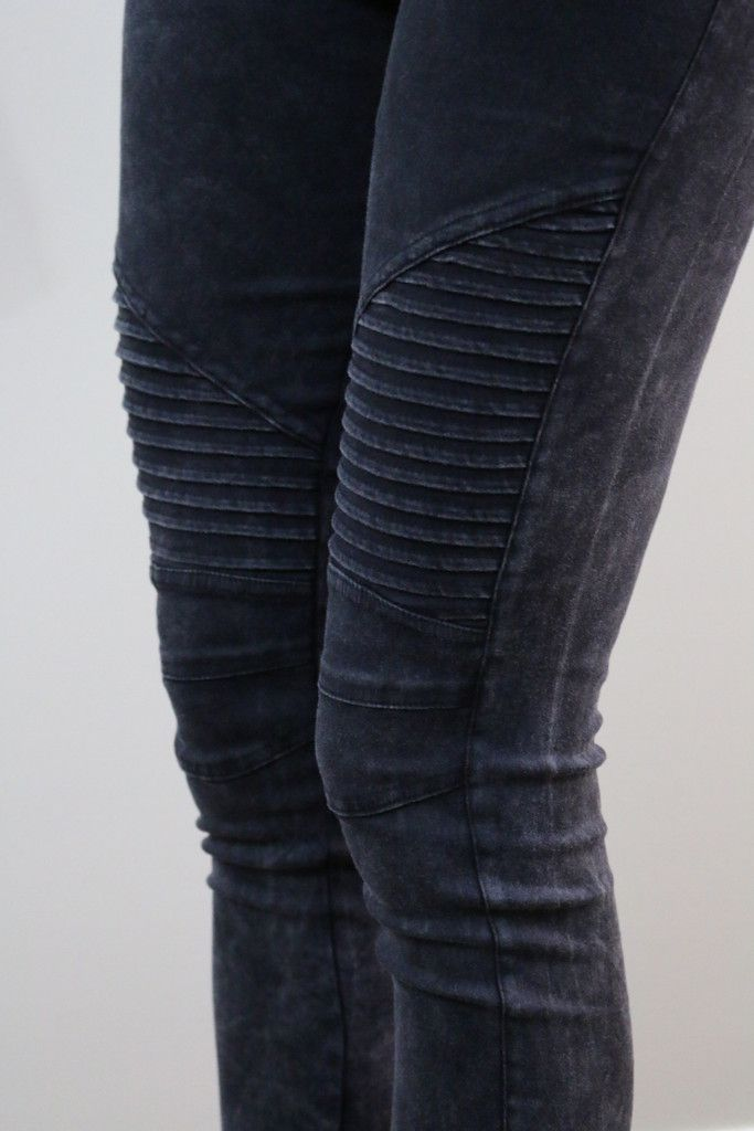 I like the idea of moto leggings for a fun weekend outfit.