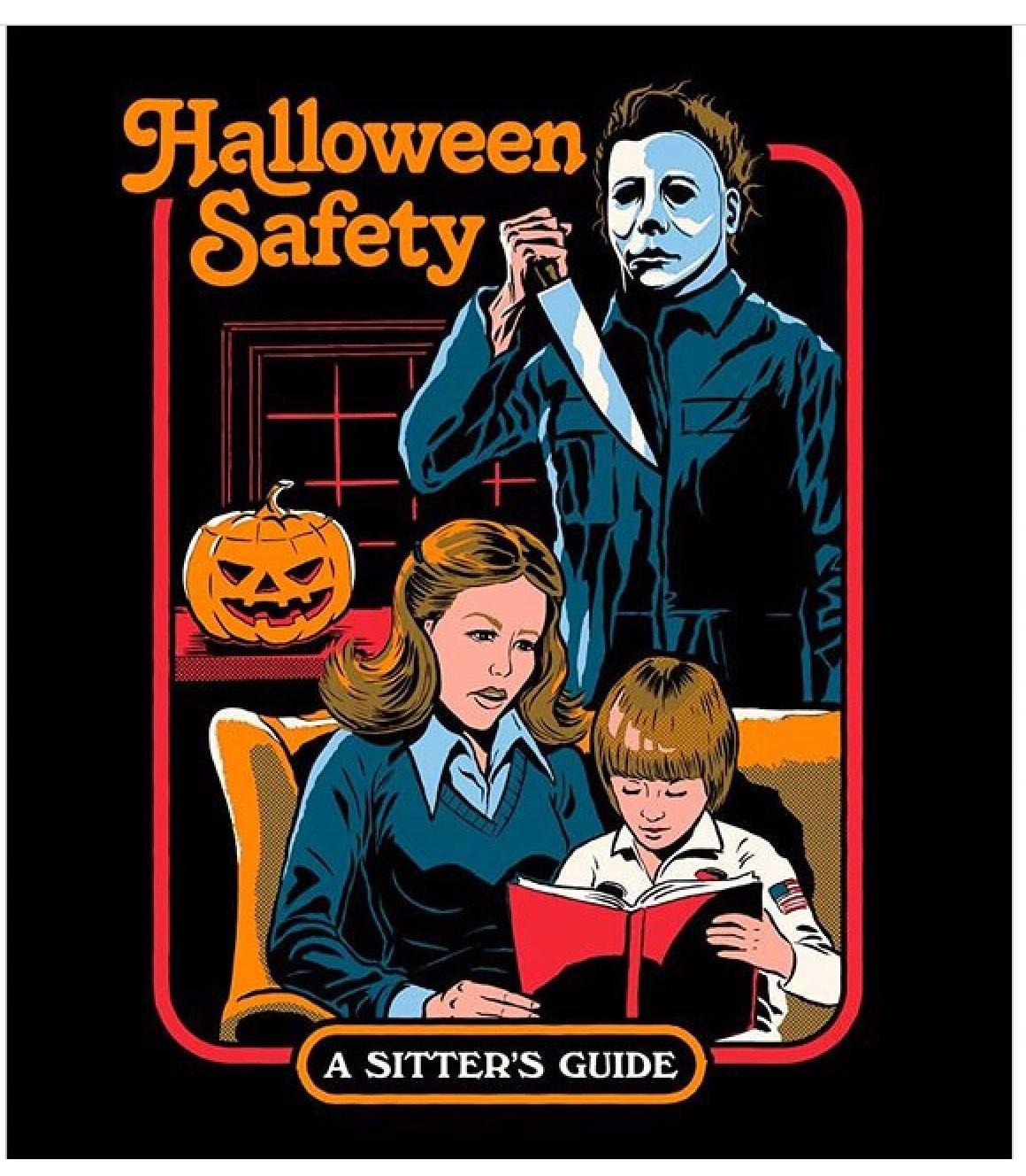 Pin by Zulema Reyes on Creepy | Halloween safety, Horror movie art, Retro  illustration