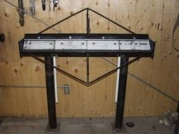 Four Foot Sheetmetal Brake Homemade Four Foot Sheetmetal Brake Fabricated From Steel Capable Of Bending 16 Gauge S With Images Stainless Steel Sheet Steel Bottle Jacks