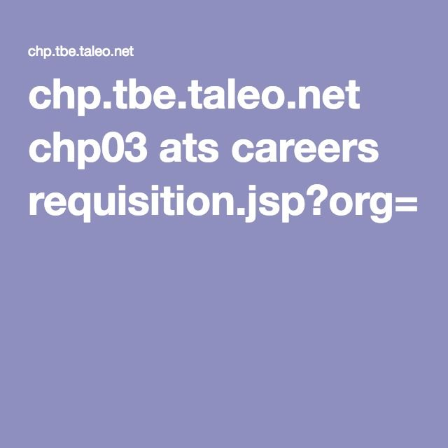 chptbetaleonet chp03 ats careers requisitionjsporg