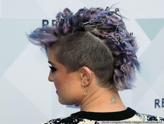 Kelly osbournes new hairstyle looks pretty dangerous safety kelly osbournes new hairstyle looks pretty dangerous urmus Choice Image
