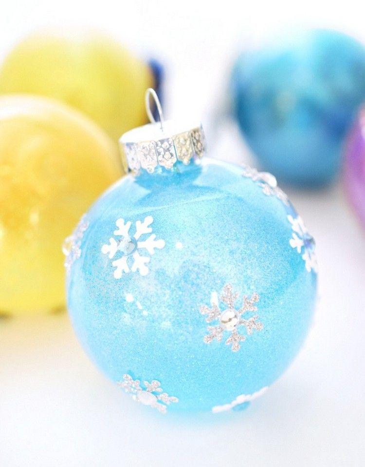 eiskönigin baumschmuck basteln  diy weihnachtsbaumschmuck