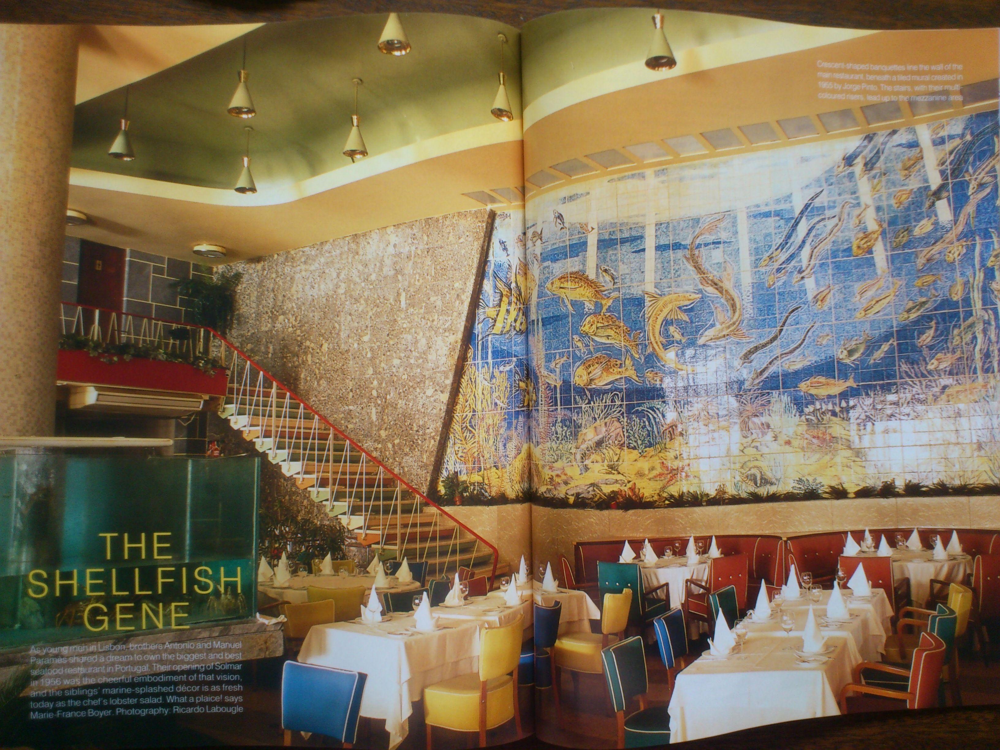 Solmar restaurant Lisbon built 1956 WOI November 2012 p168 69