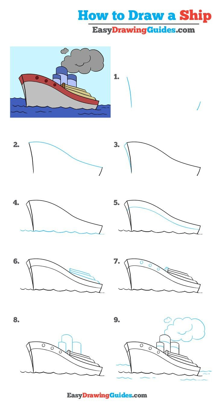 How To Draw A Ship Really Easy Drawing Tutorial Drawing