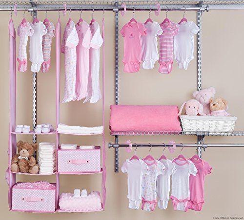 Baby Closet Organizer Girls Nursery Storage Set 24 Piece Pink Clothes  Hangers #BabyClosetOrganizer