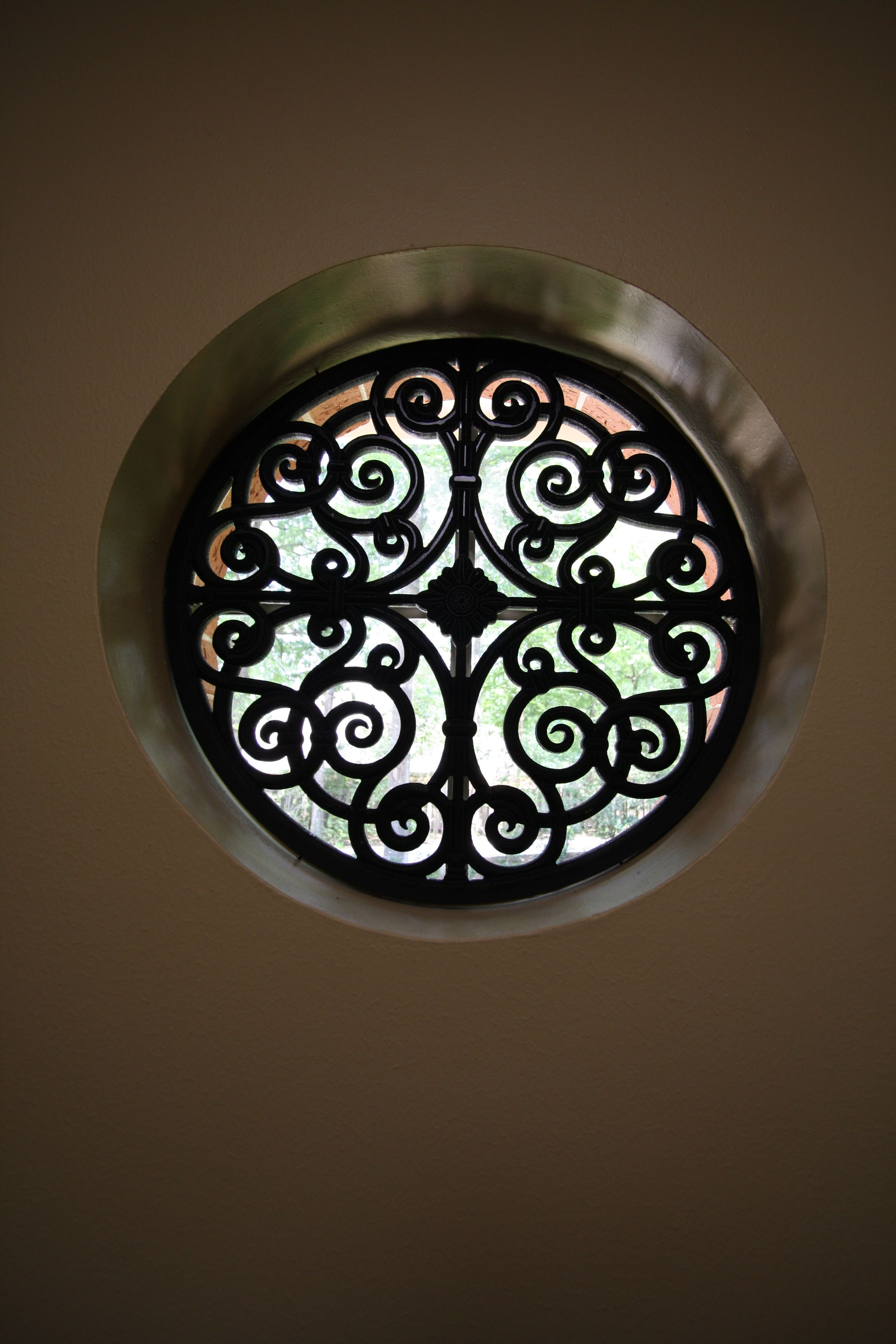 A round window can be tricky to treat tableaux is a great for Round window design