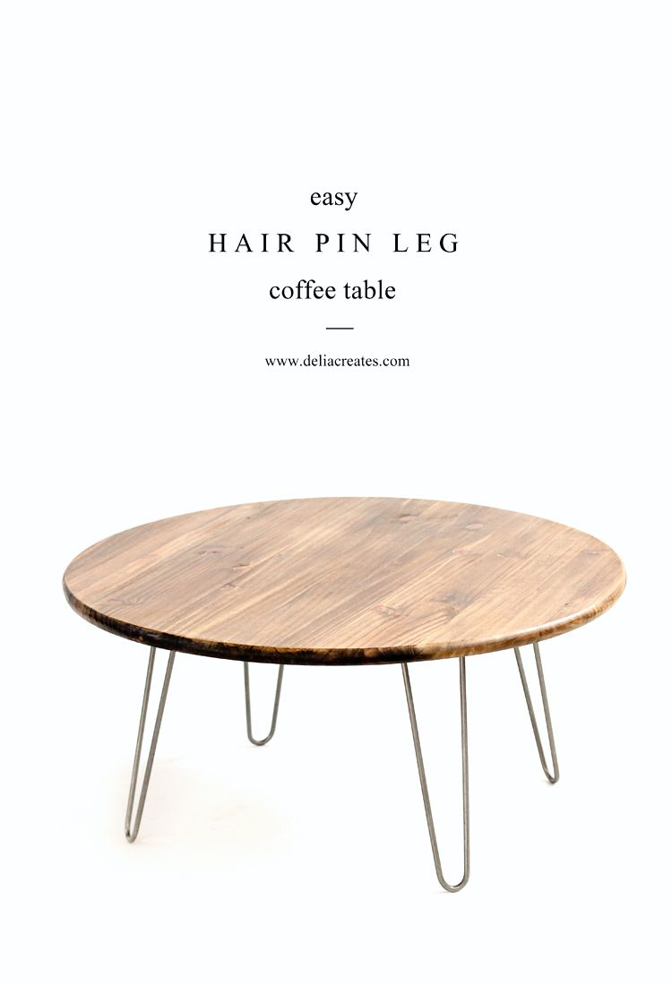 Hairpin Leg Coffee Table Tutorial Www Deliacreates Com Coffee Table Coffee Table Wood Round Coffee Table Diy