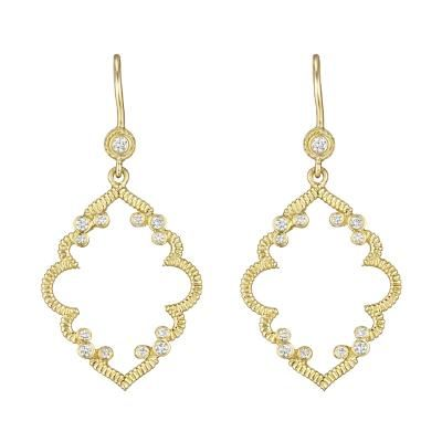 Penny Preville 18k Yellow Gold & Diamond Earrings from Lee ...