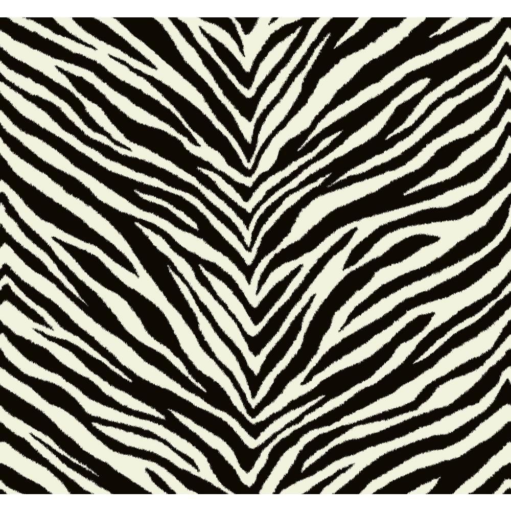 Seabrook Designs Zebra Chevron Black and White Animal Print Strippable Wallpaper EC51200 – The Home Depot