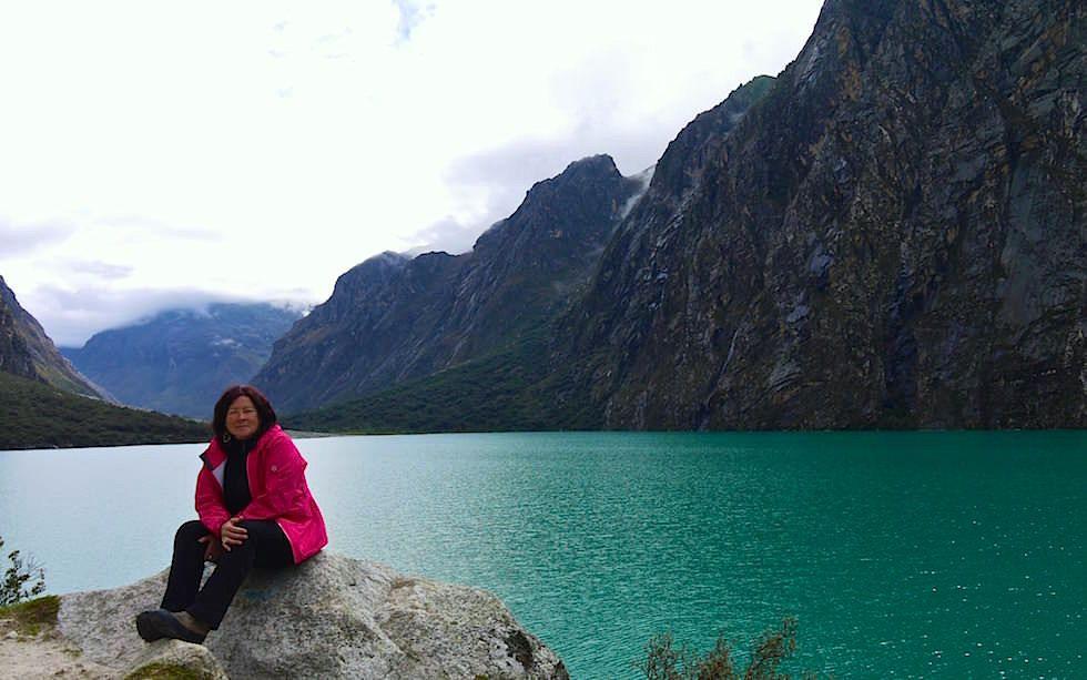 Laguna 69 - einer der schönsten Seen in Perus atemberaubender Bergwelt der Cordillera Blanca, Huaraz. Wunderschöne Tageswanderung & ideal zur Höhenanpassung