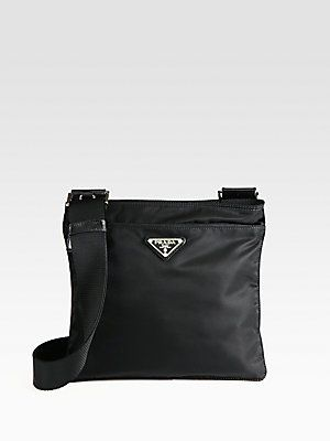 2cab0d38c73efd One of the most practical bags ever made (and in several colors too)! Prada  Nylon Messenger Bag. #prada