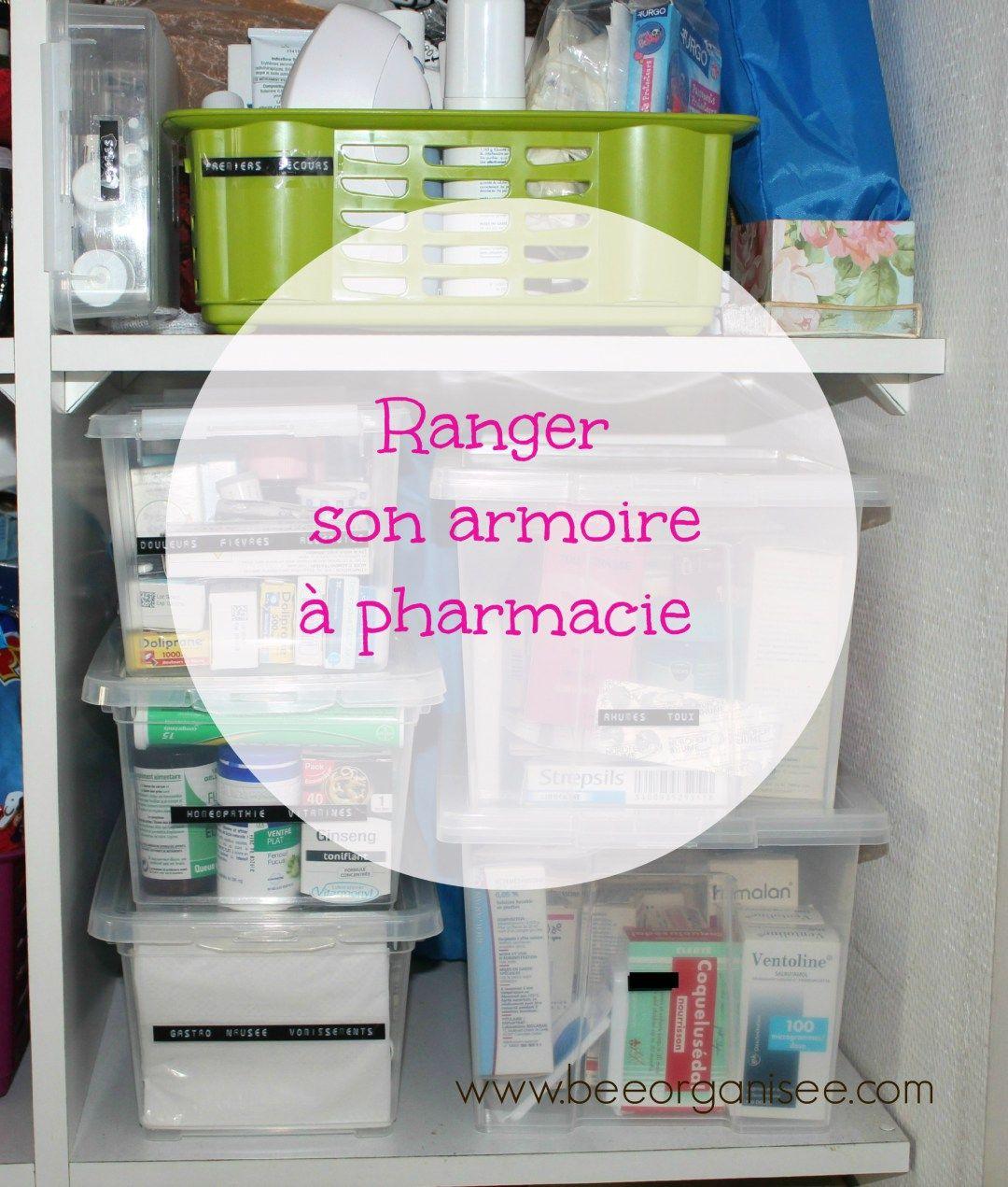 Ranger Son Armoire A Pharmacie Bee Organisee Armoire A Pharmacie Rangement Medicaments Rangement