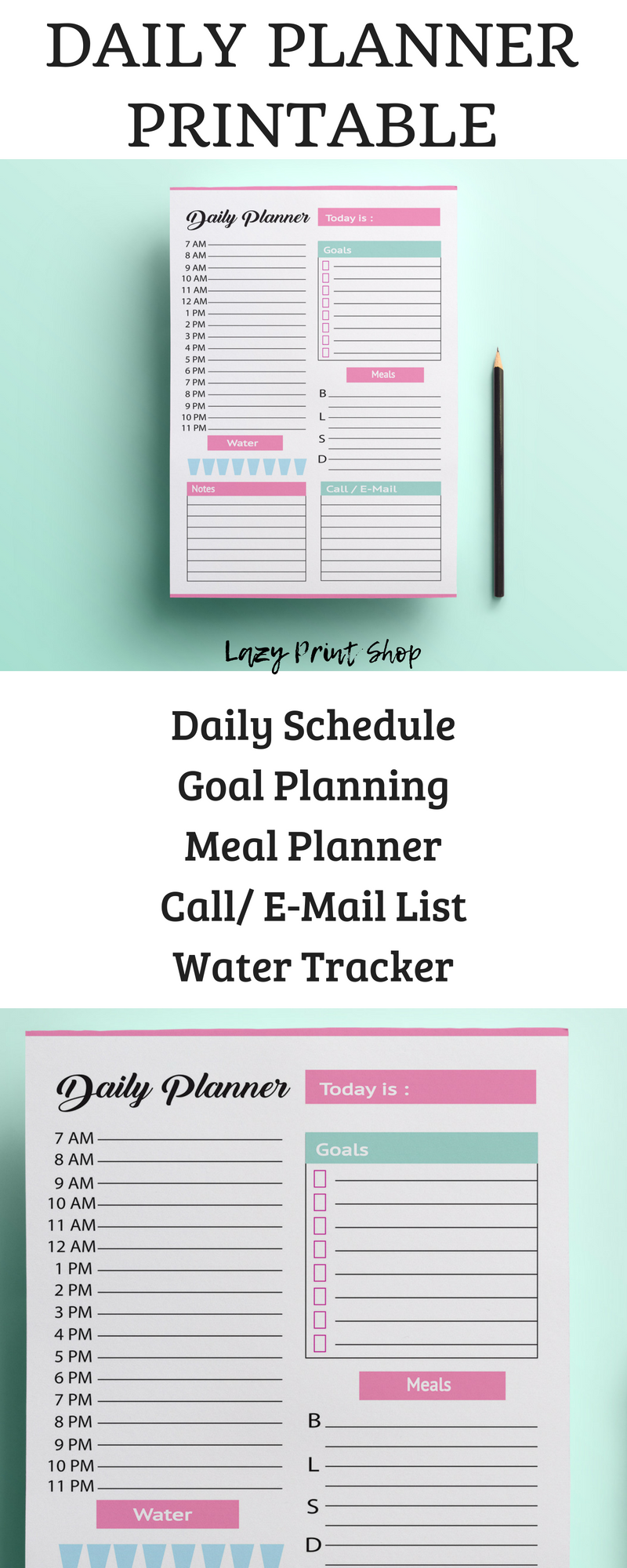 daily planner day planner personal planner personal organiser