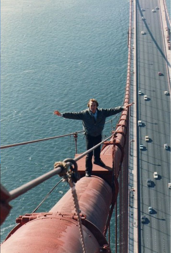 Stuntman Martin Grace On The Golden Gate Bridge With Images