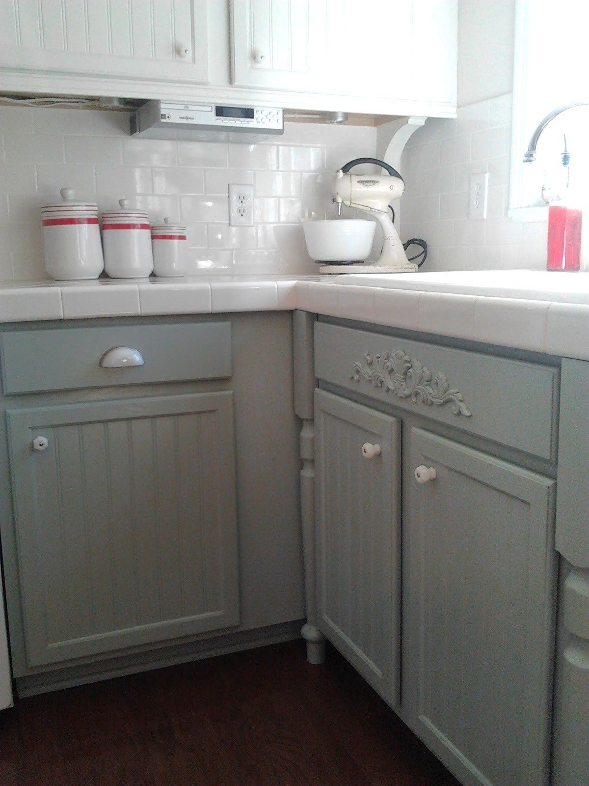 9 Kitchen Cabinet Update Oak To Gray Paint Silver Mink By Benjamin Moore Milk Gla Kitchen Cabinets Painted Grey White Kitchen Makeover Painting Oak Cabinets