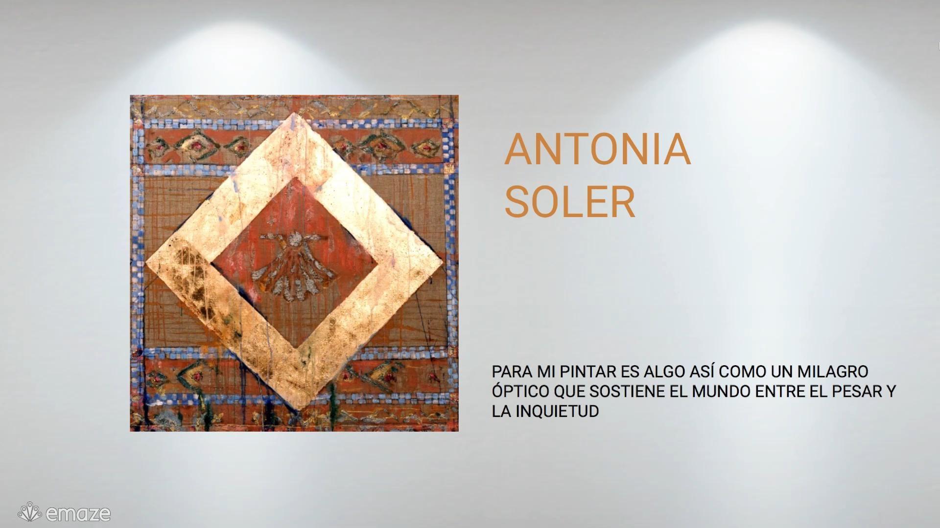 Este será uno de los primeros recorridos virtuales de Antonia Soler... #contemporaryart #modernart #painting #antoniasoler #art
