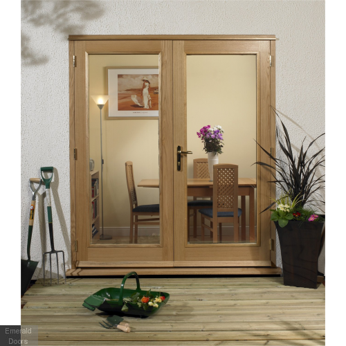 La Porte Oak 4ft French Doors Fully Finished Brick Opening 4 La Porte French Door Set 1200mm X 2084mm 54mm Thickness In 2020 French Doors Weather Bar Door Sets