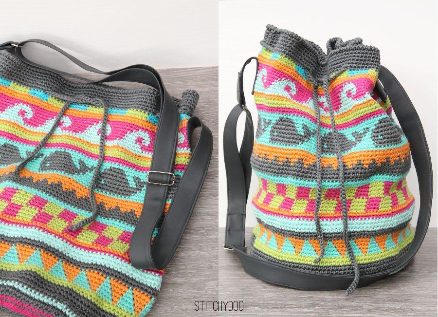 Taschen Crochetalong | Häkeln, Häkeltasche und Stricken