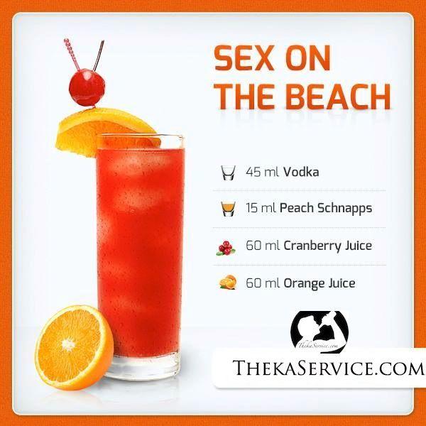 Sex on the beach receipes