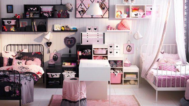 Un petit espace, deux déco | Petite fille, Filles et Decoration ...