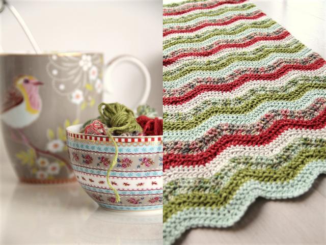 Manta chevron, en colores navideños by CreJJtion, usando patrón de ...