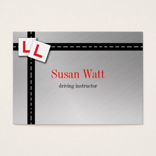 L Plate Driving Instructor Business Card Zazzle Com Driving Instructor Teacher Business Cards Business Cards