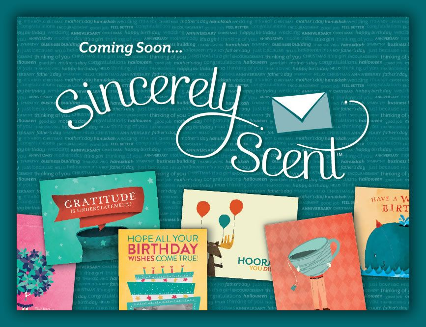 Sincerely Scent Cards Scented Order Online Personalized Cards You Can Even Schedule Them A Yea Greeting Card Store Scentsy Personalized Greeting Cards