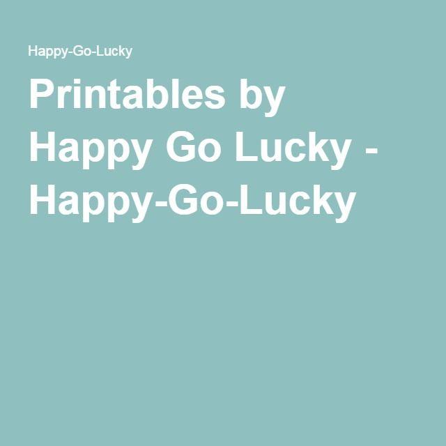 Printables by Happy Go Lucky - Happy-Go-Lucky