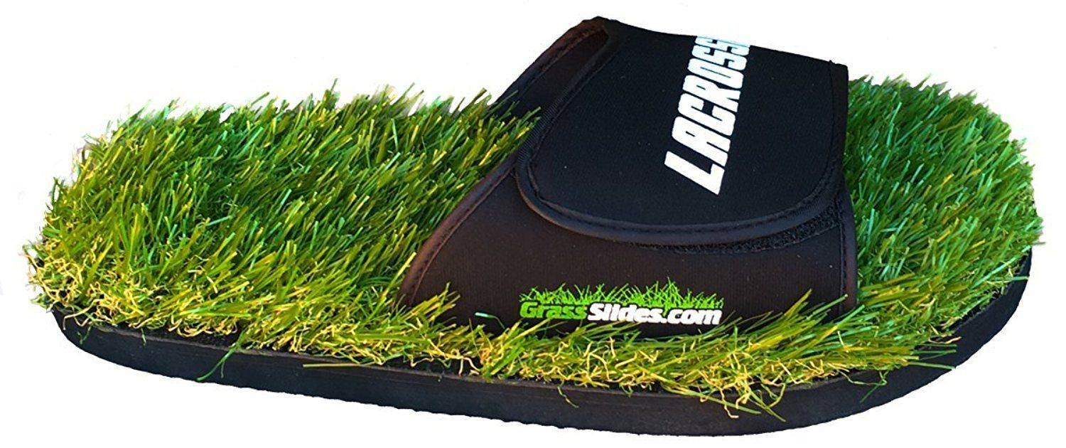 GrassSlides Lacrosse Grass Slides shoes are made from real