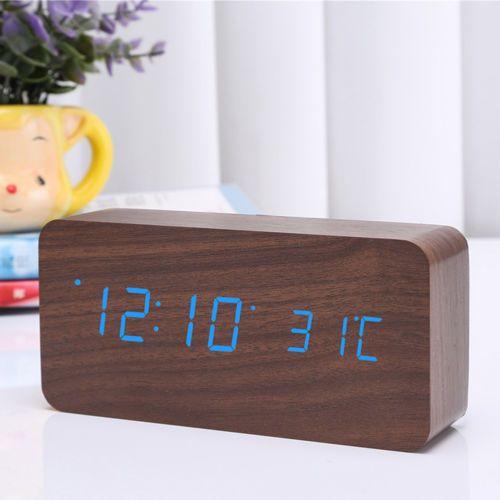 LED-De-Madera-Electronico-Digital-Alarma-Suena-Reloj-De-Escritorio-control-de-temperatura-caliente