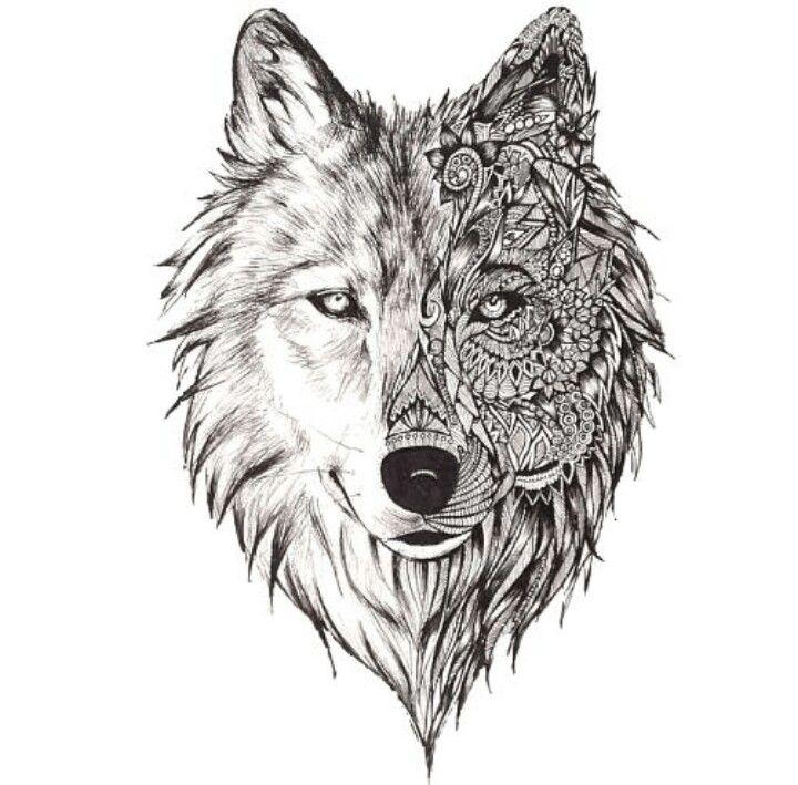 Dessin loup loups pinterest dessin loup loups et dessin - Un loup dessin ...