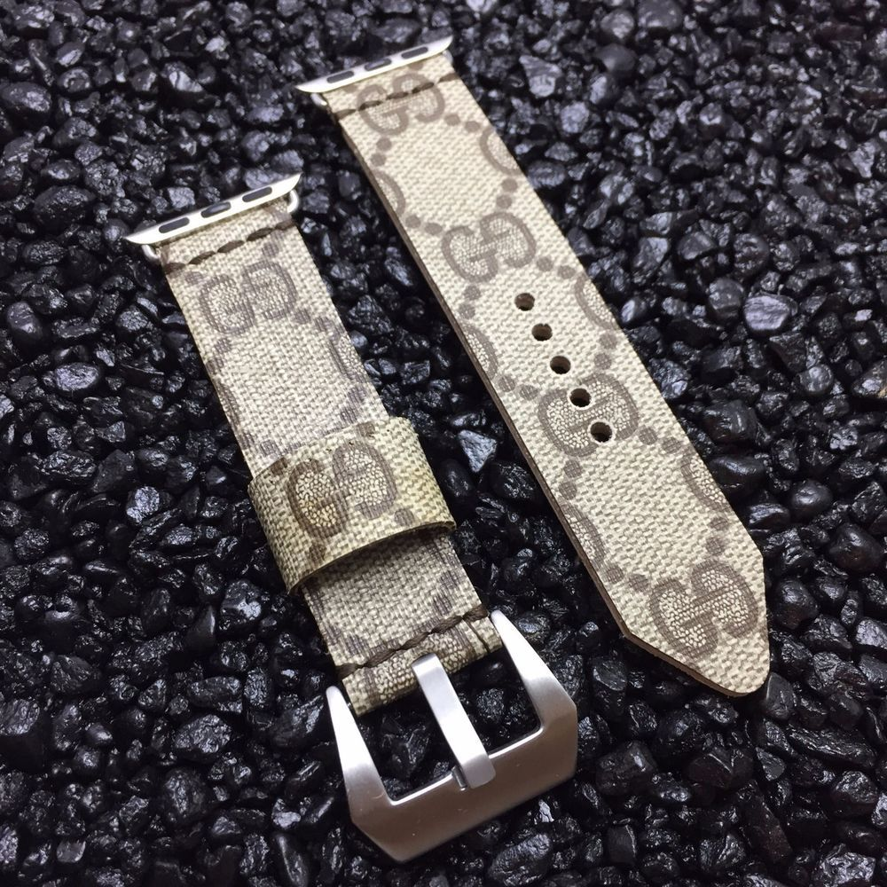 6a160c754a1 Gucci Signature Monogram Handmade Upcycled Apple Watch Band Strap - iWatch   Gucci