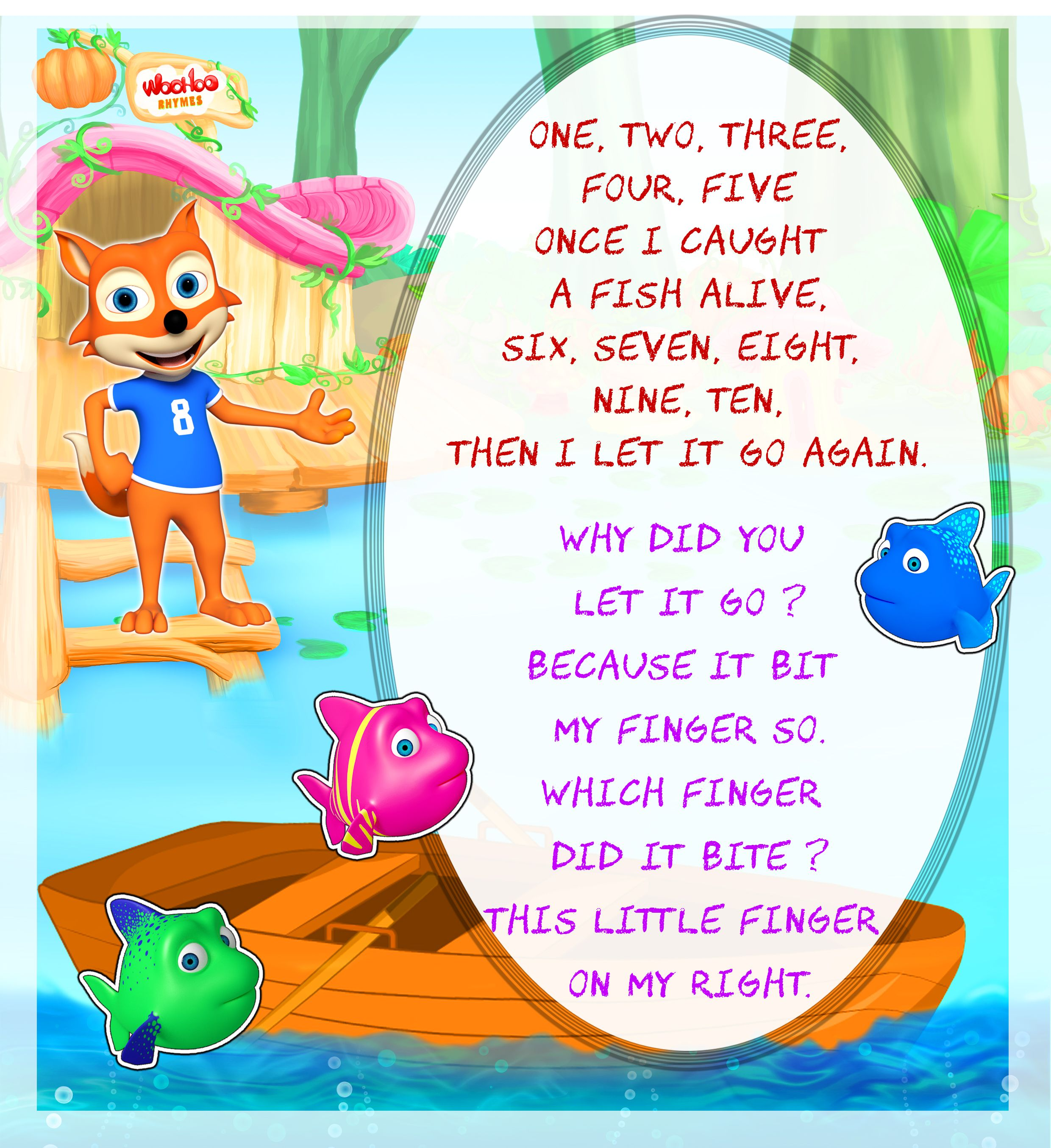 Once I caught a Fish Alive @WooHooRhymes #nurseryrhymes #poster