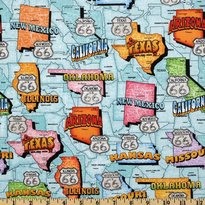 Get Your Kicks Route 66 Map Teal For the Home Pinterest Route