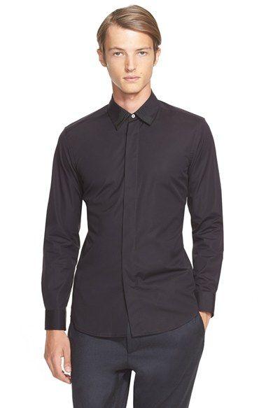 MARC JACOBS Extra Trim Fit Grosgrain Collar Shirt