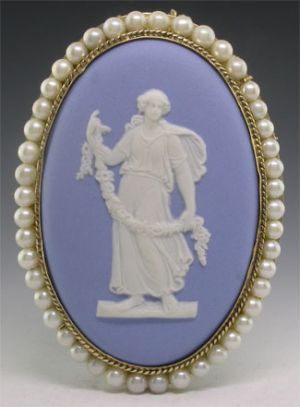 Wedgewood and a cameo. Perfect!