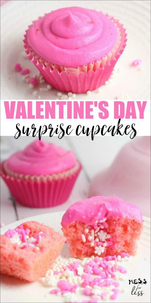 Photo of Make these Valentine's Day Cupcakes Filled with Sprinkles for someone you love! …