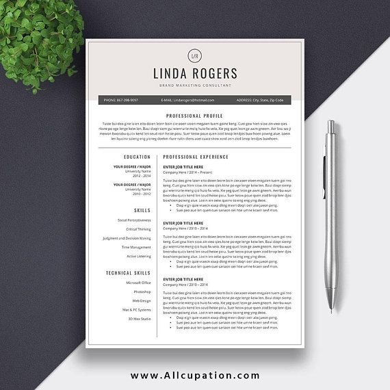 Be More Confident And Competitive In The Job Market Beautiful And Professional Resume Love The Desig Resume Template Cv Template Resume Template Word