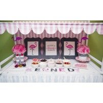Flamingo Pink Party Printables Collection