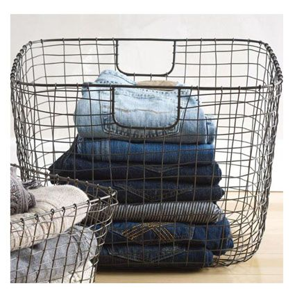 I love the nostalgic feel of this basket.  It works great for storage and decor.  I like to keep throw blankets in it.  Make sure you check out the sizes this design comes in: http://store.theorganizedparent.com/organized/search/simpleSearchResult.jsp?_requestid=532015