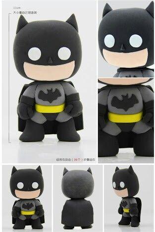 batman air dry clay clay art superheroes pinterest. Black Bedroom Furniture Sets. Home Design Ideas
