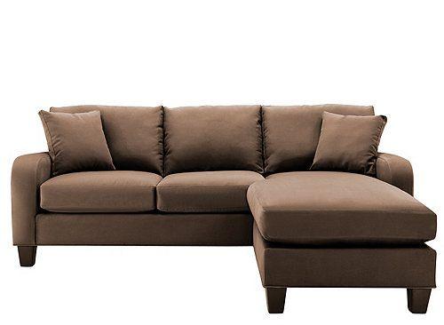 Cindy Crawford Bailey Microfiber Chaise Sofa Sofas Raymour And
