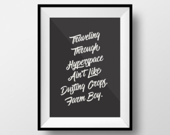 Star wars quote poster | Etsy