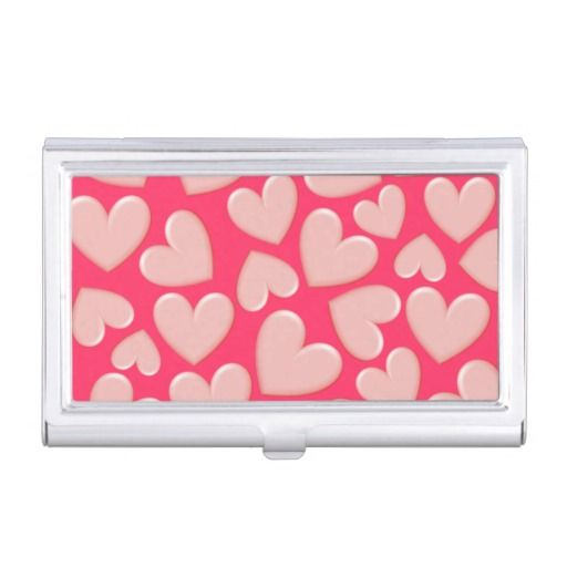 Customizable Puffy Hearts Business Card Holder