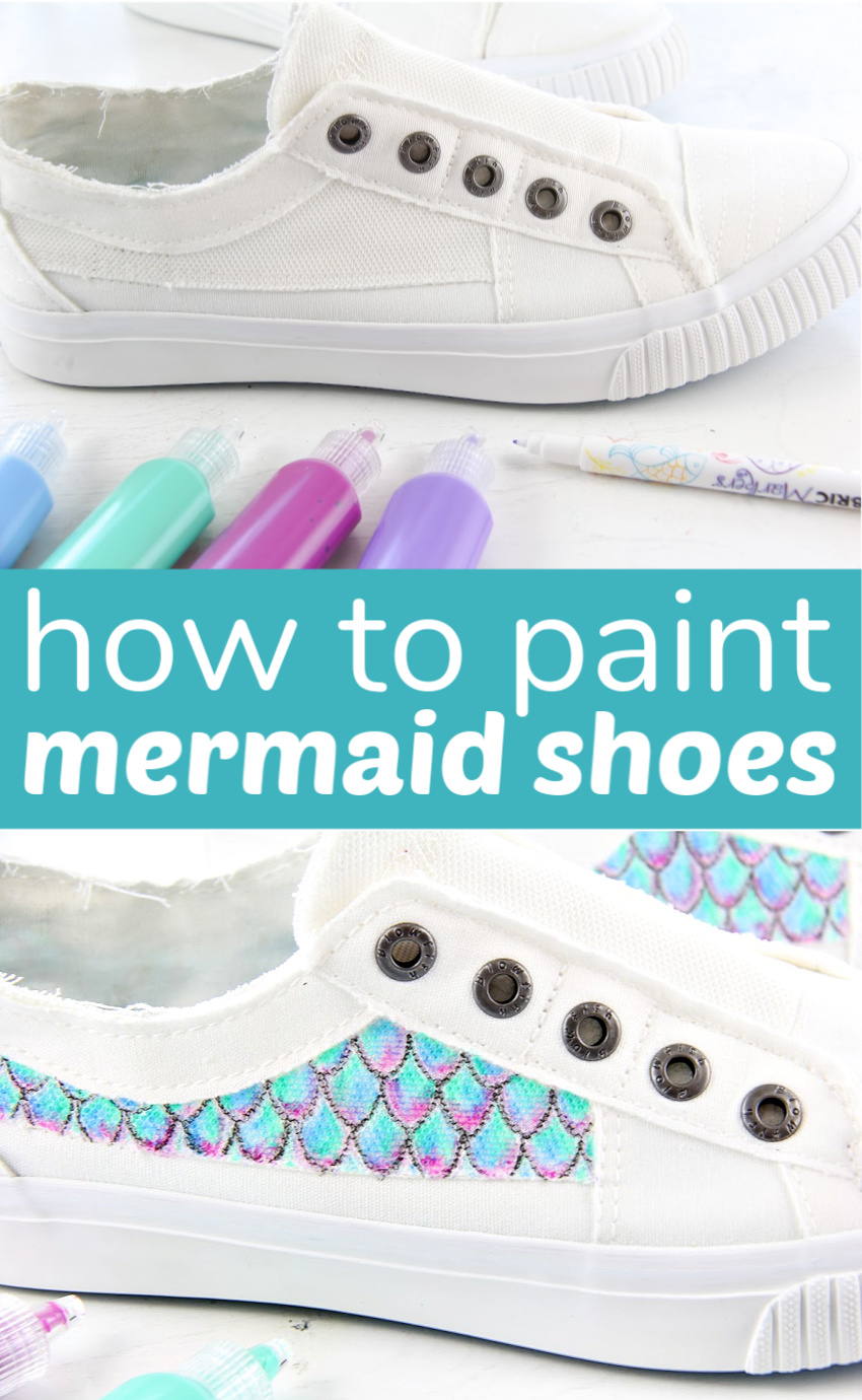 Mermaid shoes, Painted canvas shoes