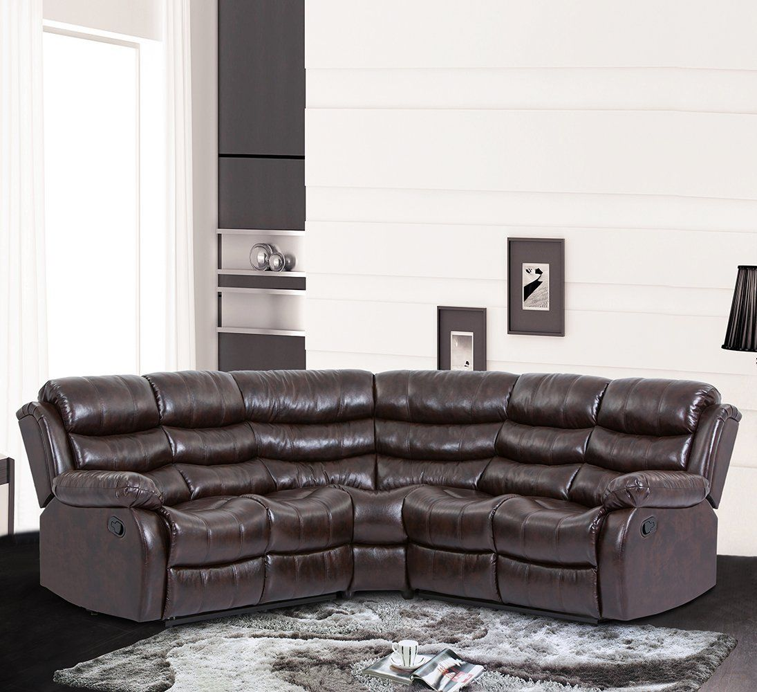 Bestmassage Sectional Sofa Recliner Sofa With Recliner With 2 Reclining Seat For Home Living Room Sectional Sofa With Recliner Home Living Room Sectional Sofa
