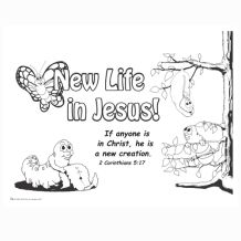 coloring pages of jesus life | New Life In Jesus Coloring Page | Jesus coloring pages ...